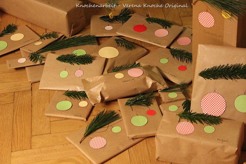 Geschenke verpacken mit Packpapier 14