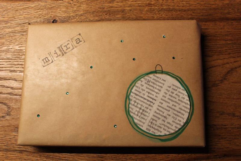 Geschenke verpacken mit Packpapier 7
