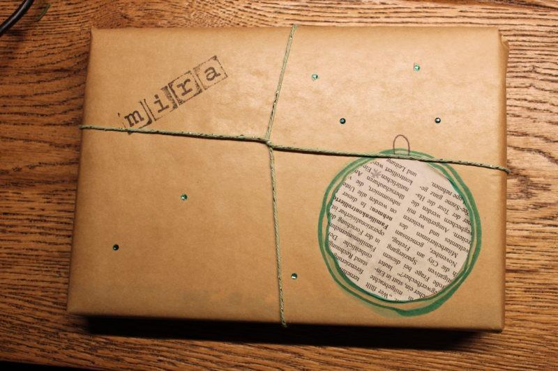 Geschenke verpacken mit Packpapier 8