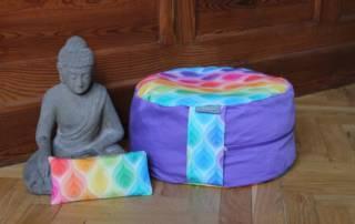 Meditationskissen Yogakissen nähen: Anleitung zum selber machen