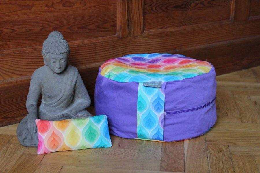 Meditationskissen Yogakissen naehen 15
