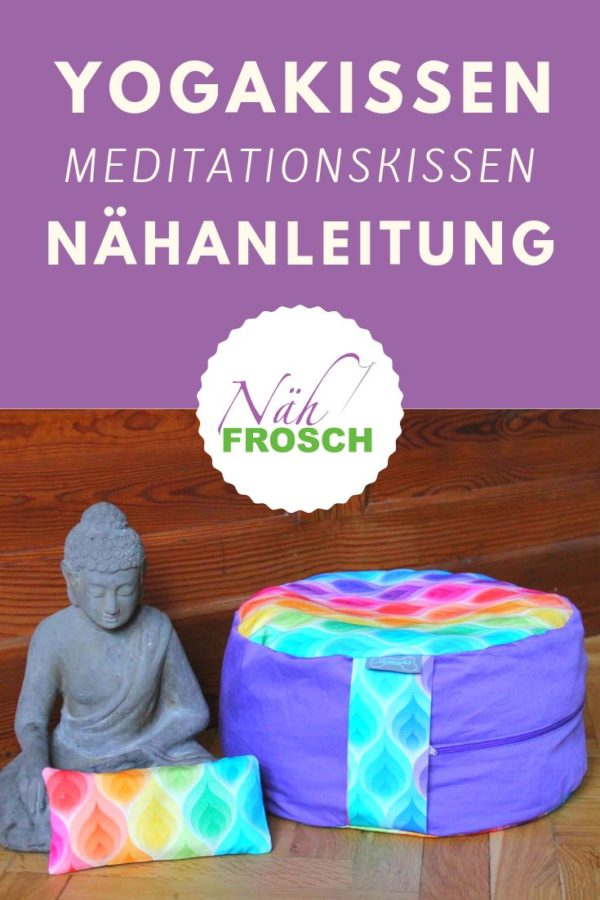 Turbo Meditationskissen Yogakissen nähen: Anleitung zum selber machen PO14