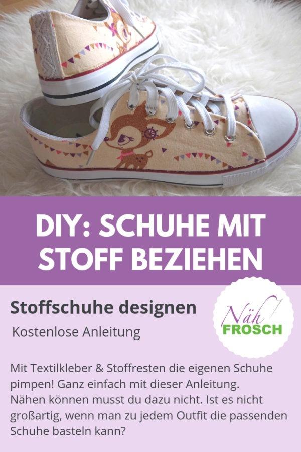 e80b76ddddb9ea Schuhe selber gestalten DIY  Eigene Stoffschuhe ganz leicht designen ...