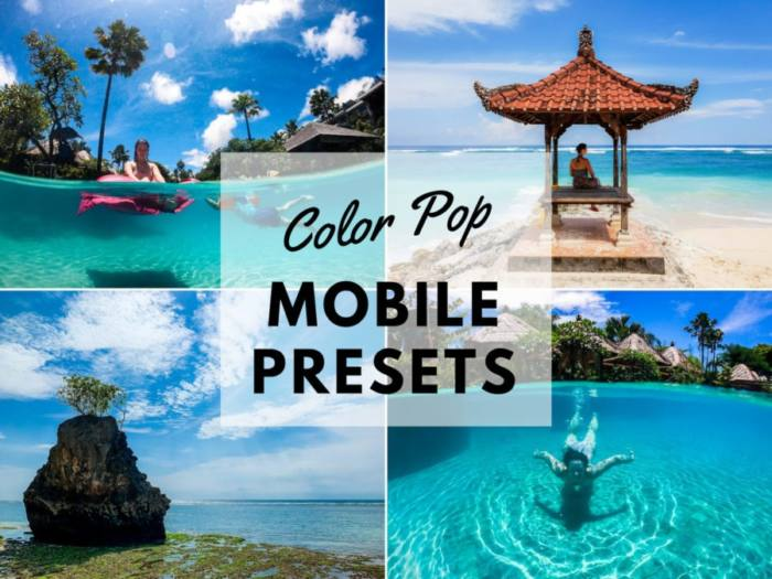 Color Pop Mobile Presets