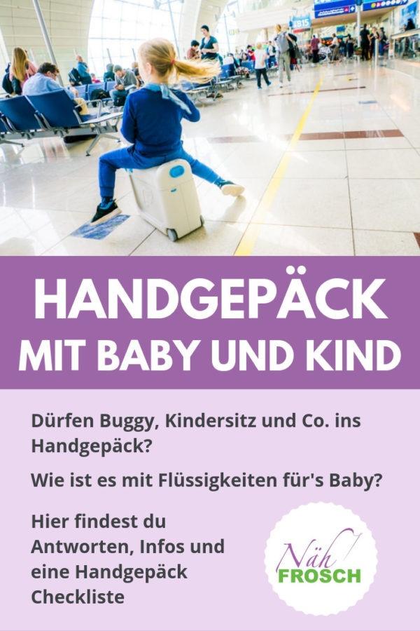 Handgepaeck mit Baby und Kind