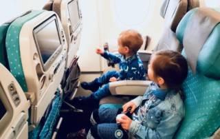 Bali mit Kinder Flugzeug