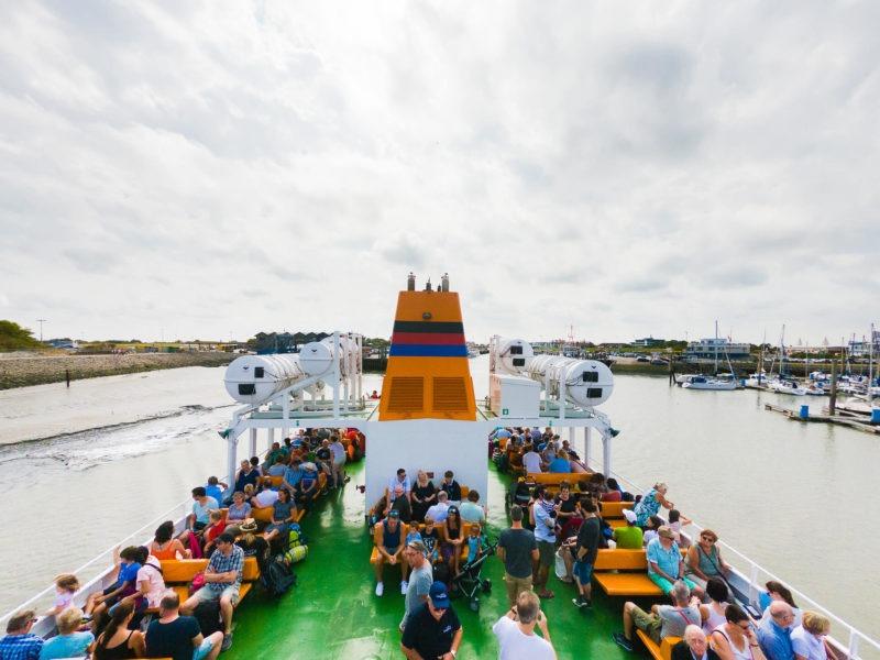 Nordsee Strände: Fähre von Bensersiel nach Langeoog
