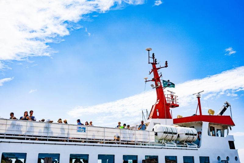 Nordsee Strände: Fähre nach Spiekeroog