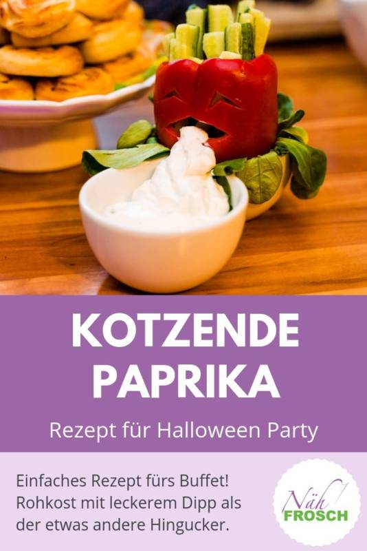 Paprika Rohkost Halloween Rezept