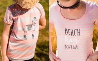 Geringelte Shirts nähen mit Plott für Mutter und Tochter