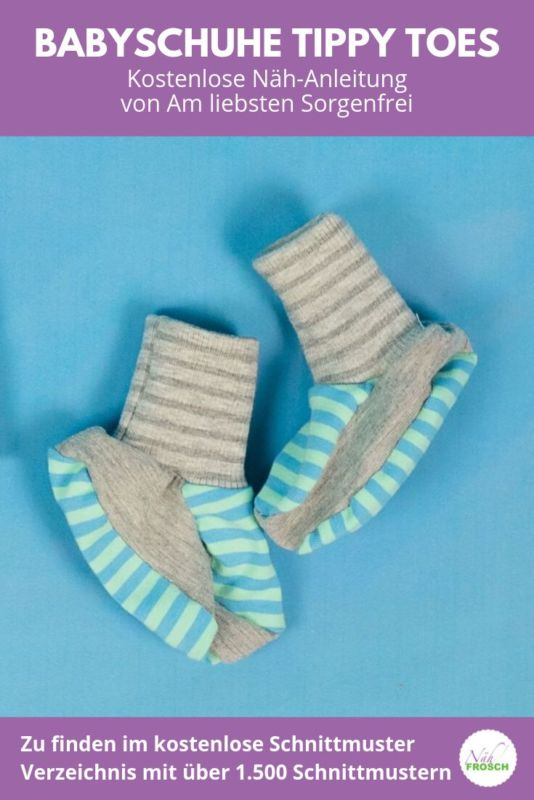 Kostenlose Schnittmuster Baby-Schuhe Tippy Toes