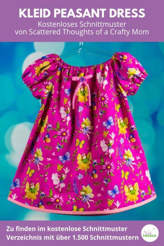 Kostenlose Schnittmuster Kleid Peasant Dress