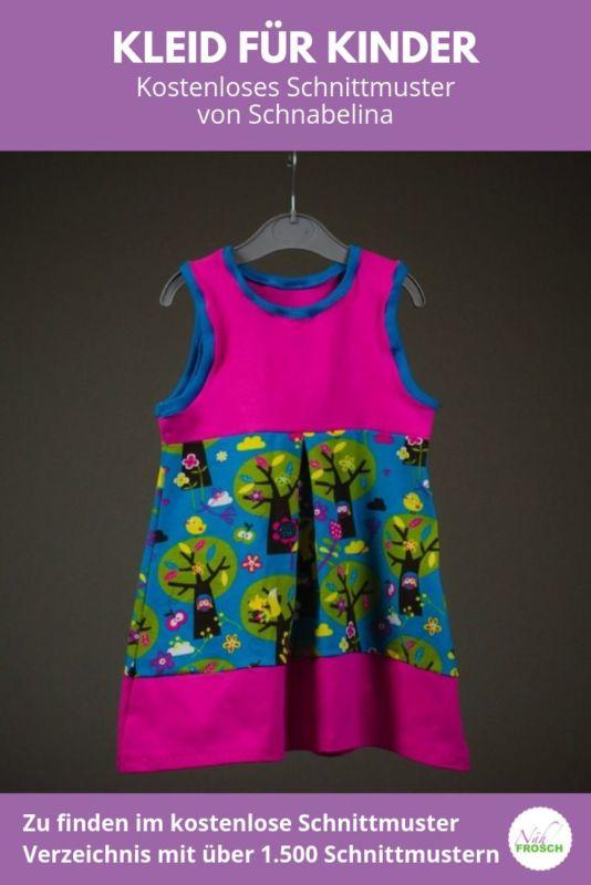 Kostenlose Schnittmuster Kleid fuer Kinder