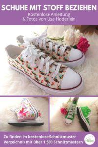 Schuhe designen und mit Stoff bekleben