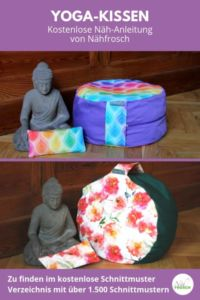Yoga- und Meditations-Kissen naehen