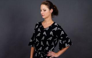 Webware Kleid mit Volant Ärmeln nähen