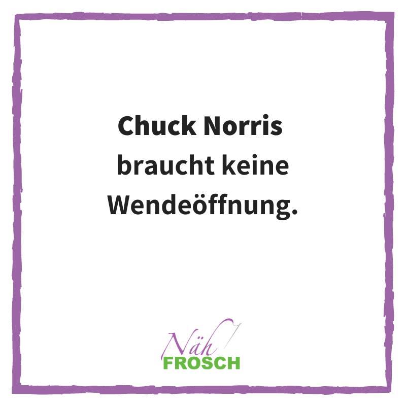 Chuck Norris Spruch Wendeoeffnung