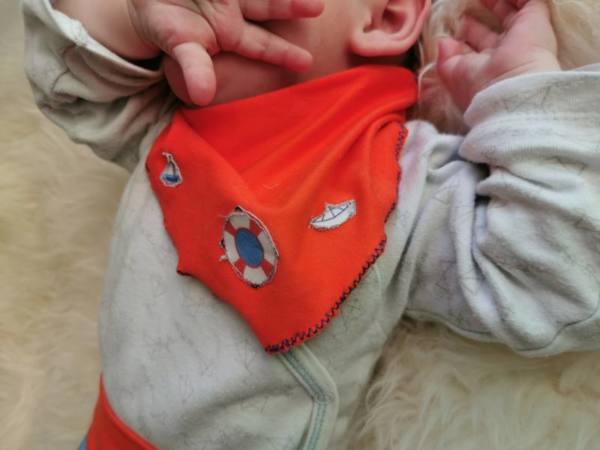 Baby Tuch naehen 1