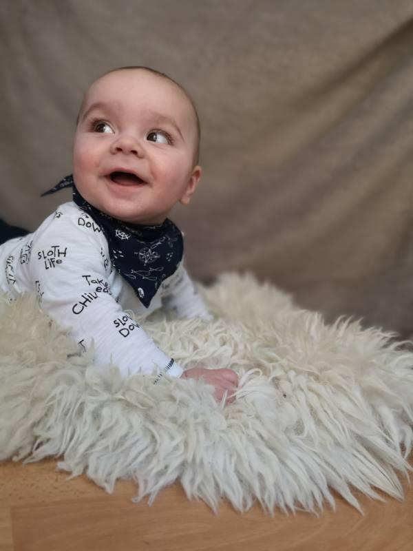 Baby Tuch naehen 13