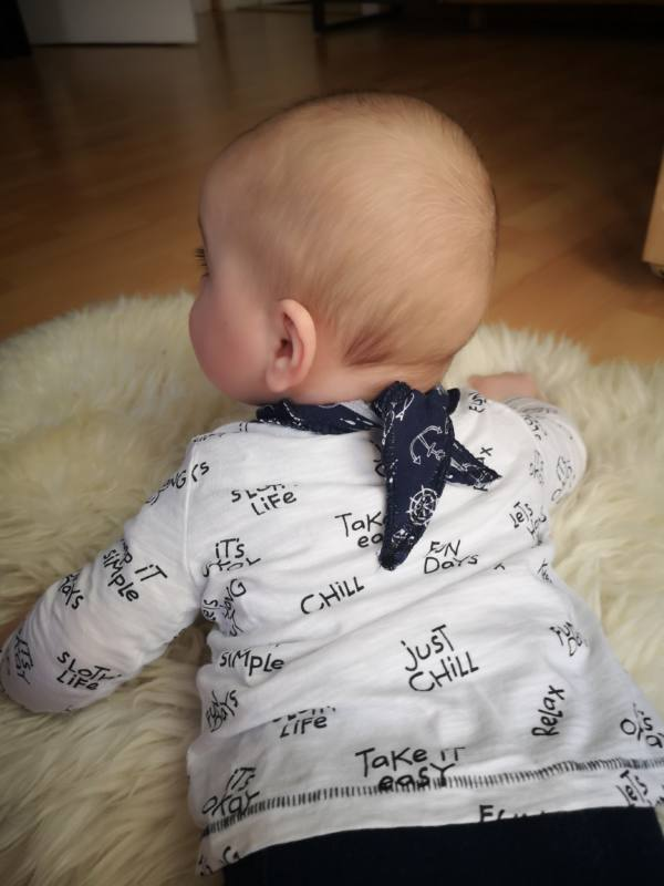 Baby Tuch naehen 2