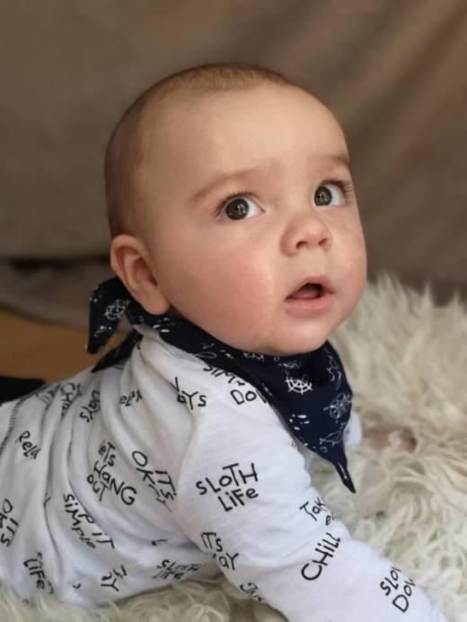 Baby Tuch naehen 3