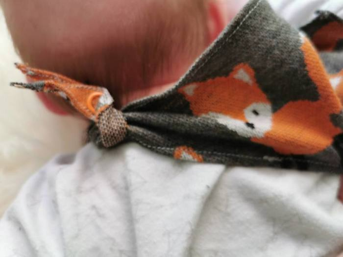 Baby Tuch naehen 5