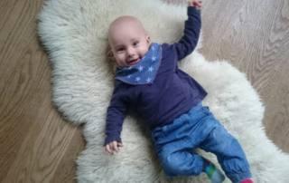 Baby Halstuch nähen: Das kostenlose Schnittmuster IMUT