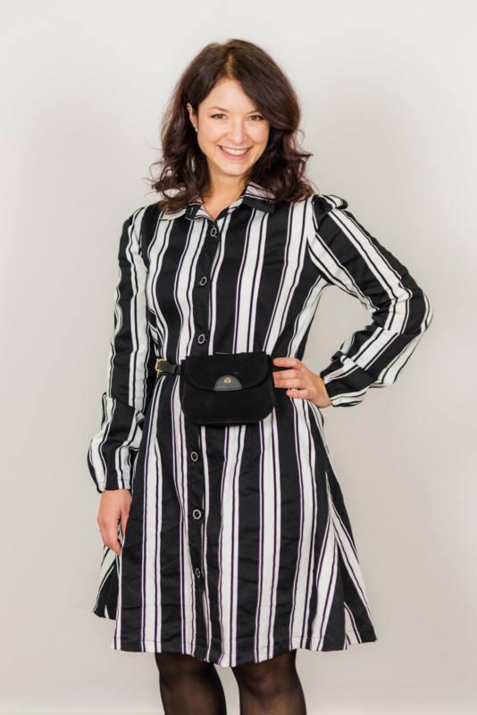 Schwarz weißes Kleid naehen 001