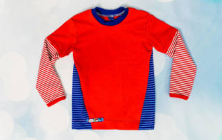 Shirt mit Einsatz nähen: Das Schnittmuster Kinder Shirt KEREN