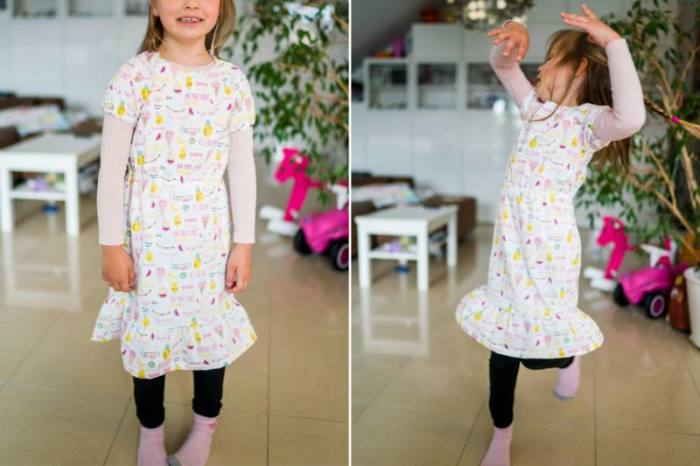 Kinder-Kleid-Menari-naehen