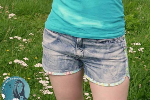 damen shorts naehen shorty legs 2 cr