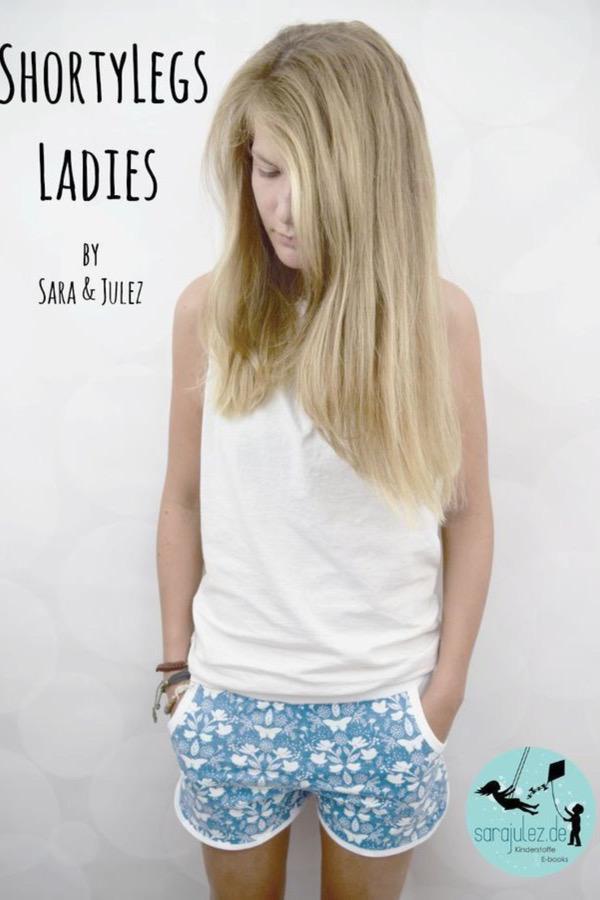 damen shorts naehen shorty legs 3 cr