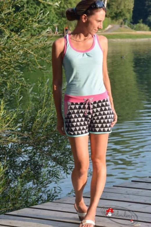 damen shorts naehen shorty legs 4 cr