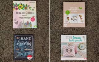 DIY Bücher Rezensionen: Zeichne dich glücklich, Nachhaltigkeit, Handlettering und Sticken lernen!