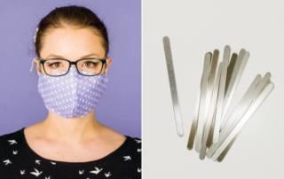 Maske mit Draht nähen: So kommt der Bügel in den Mundschutz