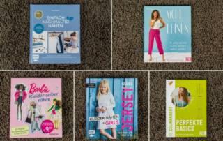 Nähbücher Rezensionen: Nachhaltig nähen, Perfekte Basics, Kleider für Girls, Nähen für Barbie und Nähen mit Leinen