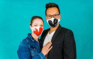 (Hochzeits-)Masken selber nähen: Nähfrosch Masken Panel von Lillestoff