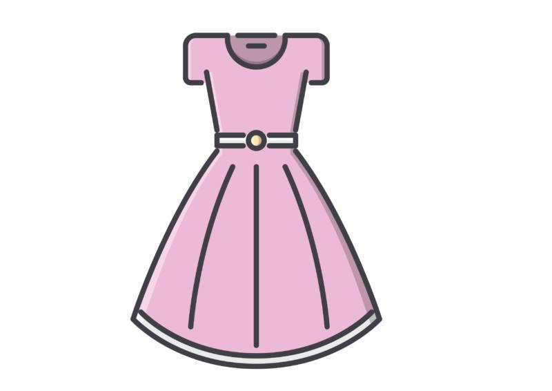 Damenoberteile und Damenkleider