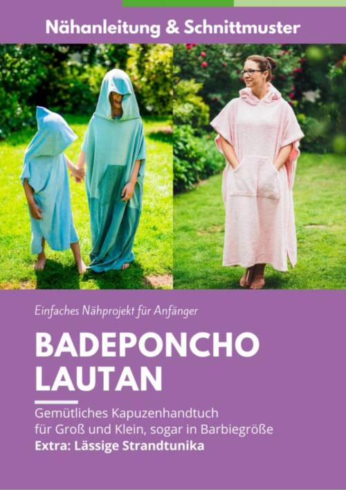 Badeponcho naehen Cover