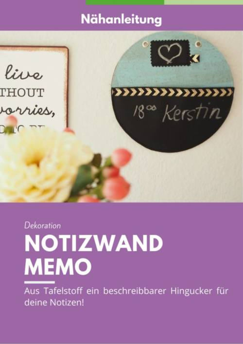 Cover Notizwand naehen