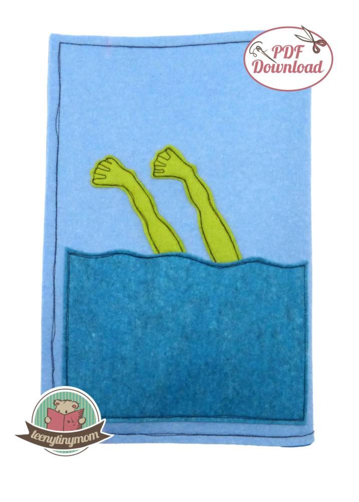 Quiet book Babybuch Pop Up Frosch 4