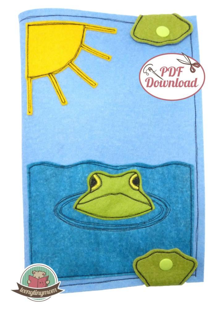 Quiet book Babybuch Pop Up Frosch 5