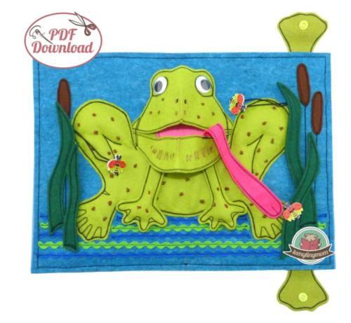 Quiet book Babybuch Pop Up Frosch 6
