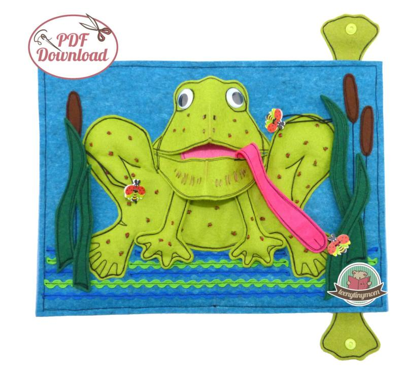 Quiet book Babybuch Pop Up Frosch 6