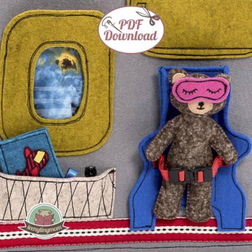 Quiet book naehen Teddy Flugzeug 1