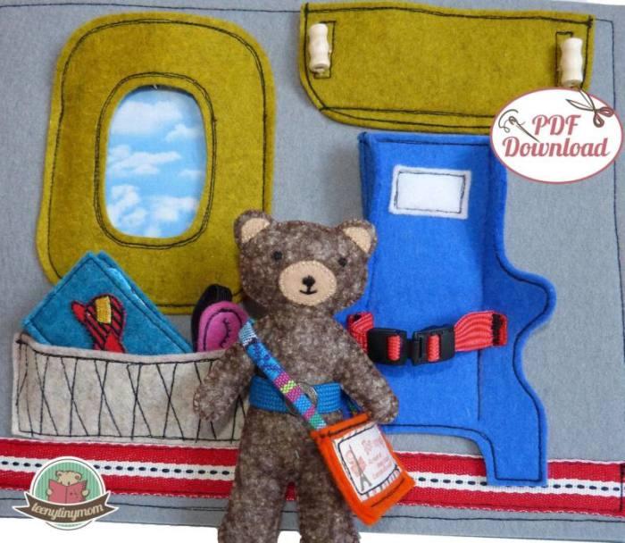 Quiet book naehen Teddy Flugzeug 4