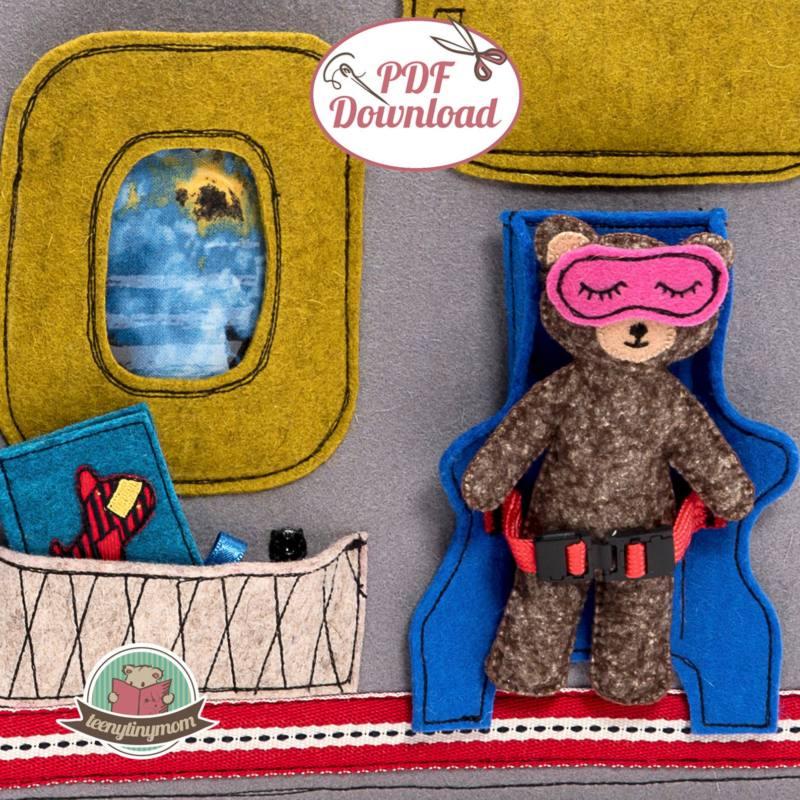 Quiet book naehen Teddy Flugzeug 7