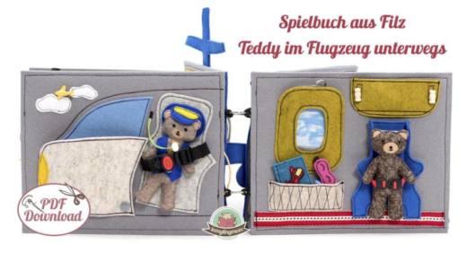 Quiet book naehen Teddy Flugzeug 9