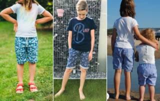 Kurze Hose nähen für Kinder aus Webware: Das Schnittmuster Shorts PANTAI