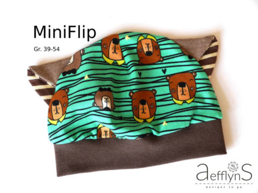 Kindermuetze naehen MiniFlip 5 Naehfrosch